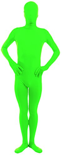 Marvoll Kids Full Body Greenman Suit - Lime Green zentai bodysuit (Kids Large, Lime Green)