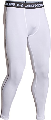 Under Armour Boys' HeatGear Armour Fitted Legging White / White / Black Large