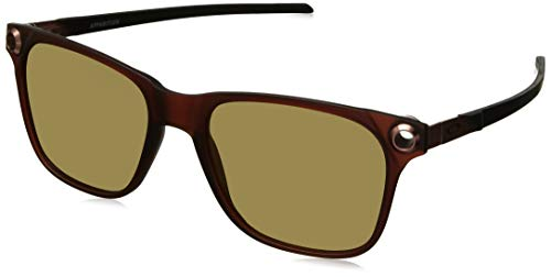 Oakley Men's OO9451 Apparition Square Sunglasses, Satin Dark Amber/Prizm Rose Gold, 55 ()