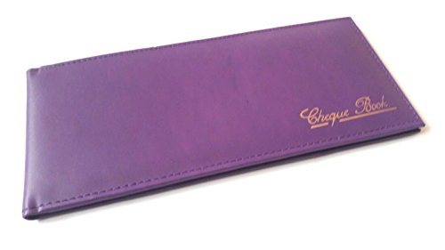 AKSHIDE Leather Cheque Purple Cover Holder Wallet Book Book Cheque Leather Leather Book Cheque rn1qTrI