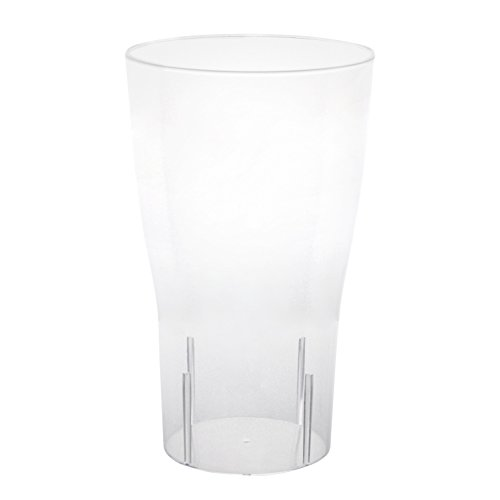 Party Essentials 10-Count Hard Plastic 16-Ounce Party Cup Pint Glasses, Clear