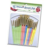 #9: Royal Brush CLSTEN 15 Clear Choice Stencil Brush Deluxe Value Pack, Multicolor