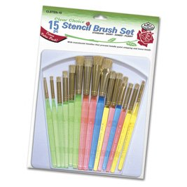 Royal Brush CLSTEN 15 Clear Choice Stencil Brush Deluxe Value Pack, Multicolor by ROYAL BRUSH