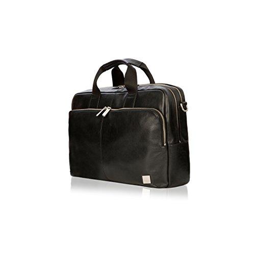 Knomo Luggage Men's Knomo Brompton Classic Amesbury Full Leather Double Zip Brief 15