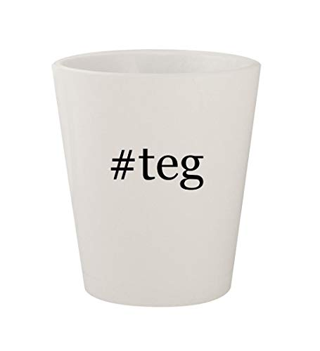 Price comparison product image #teg - Ceramic White Hashtag 1.5oz Shot Glass