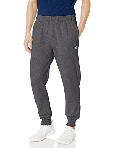 Champion Men's Powerblend Retro Fleece Jogger Pant, Granite Heather, X-Large