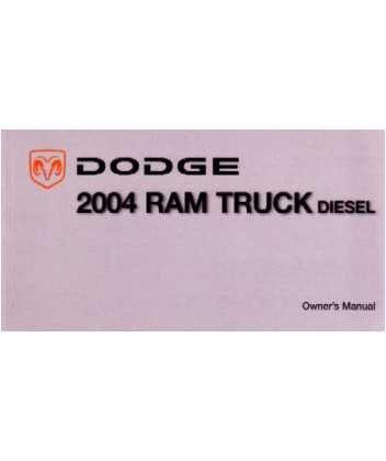 amazon com 2004 dodge ram diesel truck owners manual user guide rh amazon com 2004 dodge ram 1500 laramie owners manual 2004 dodge ram service manual