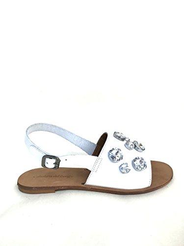 ZETA SHOES - Sandalias de vestir de Piel para mujer Bianco