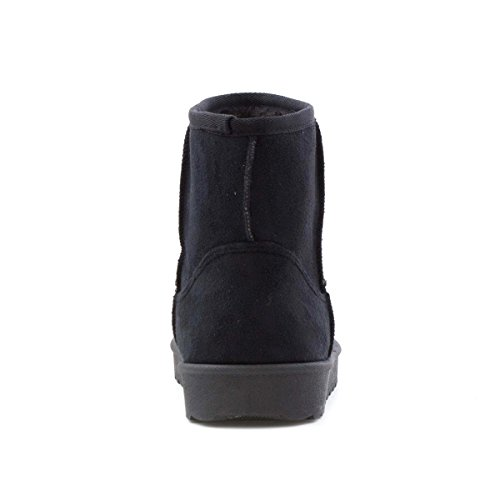 On Black Boot Suede Womens Lilley Faux Black Pull AqzzO
