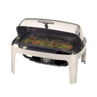 - Chafer, Roll Top, Stainless, 9 qt.