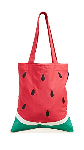 SunnyLife Women's Watermelon Tote Bag, Red, One Size