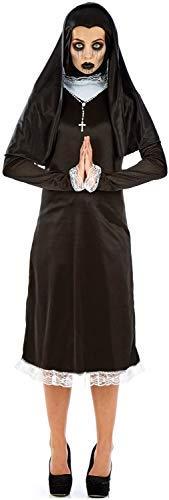 Ladies Weeping Horror Nun Scary Gothic Religious Halloween