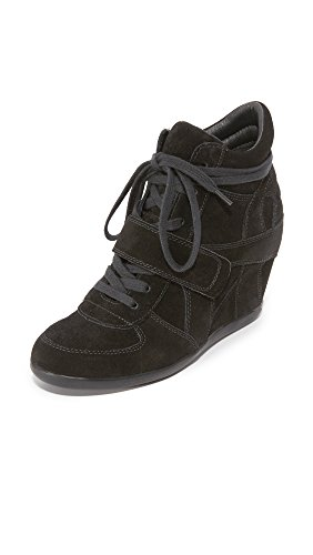 Ash Women's Bowie Fashion Sneaker, Black, 36 Medium EU (6 US)