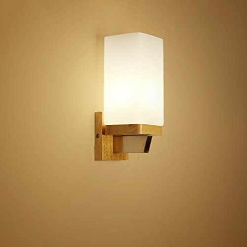 505 HZB Creative Solid Wood Wall Lamp Living Room Aisle Corridor Bedroom Bedside Lamp (Size : A1328cm) ()