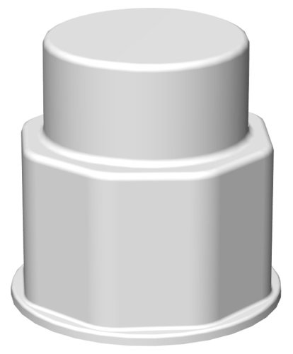 (VersaBarb Hose Barb Spigot Fitting, Closed Cap, for use with Foxx EZgrip Carboys and Nalgene-Style Containers)
