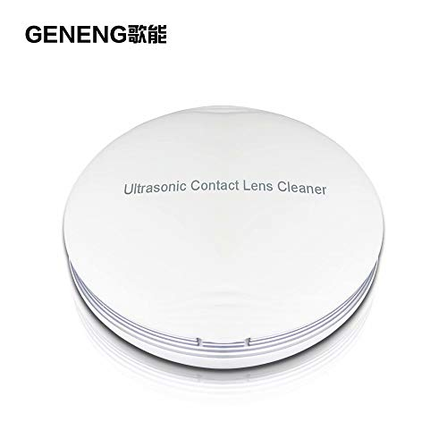 GENENG Ultrasonic Contact Lens Cleaner, Contact Lens Case Mini Portable Electronic Auto Washer Daily Care Fast Vibration Sonic Washing Travel Case Contact Lenses Colored for Eyes Best Gifts (Contact Lens Cleaning Device)