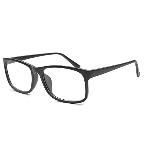 Nearsighted Oversize Myopia Glasses Everyday Use Mens Womens -3.00 Black Distance Glasses (NOT Reading Glasses)