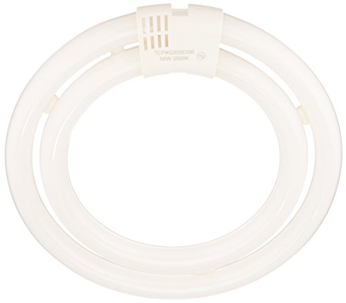 TCP CFL Double Circle Lamp, 200W Equivalent, Bright White (3500K) T6 Circline Lamp