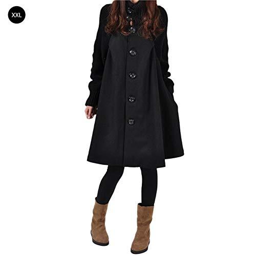 Laine Chaud Winter Vrac Manteau Noir coat Tricoté Hifuture Trench Coat En Warming Woman ZqPnxBzFw