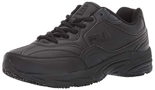 Fila Men's On The Job Slip Resistant Work Shoe Hiking, Black, 9.5 D US