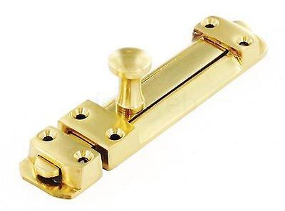 100mm (4') - Door Security Bolt Heavy Duty Strong Slide Brass ChoicefullBargain