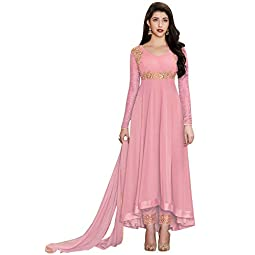 Fashion Basket Women's Faux Georgette Semi-stitched Salwar Suit