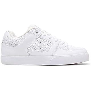 DC Men's Pure Skate Shoe, White/Black/Gum, 16 Medium US