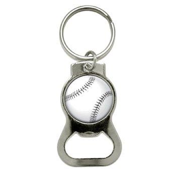 Graphics and More Baseball Bottle Cap Opener Keychain (KB...