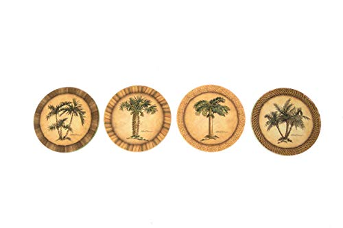 - CoasterStone AS1990 Pam Absorbent Stone Coasters, Palm Trees