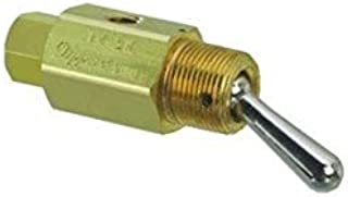 product image for Clippard TV-3M 3-Way Toggle Valve, N-C, Momentary Open Toggle, Enp Steel Toggle, 10-32, 4.0 SCFM at 50 PSIG, 6.8 SCFM at 100 PSIG