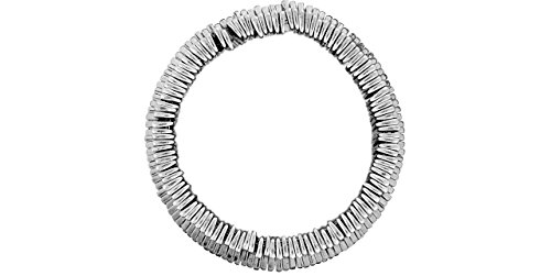 Metal Pointu's Bracelet Otu plaqué argent, Ø60mm
