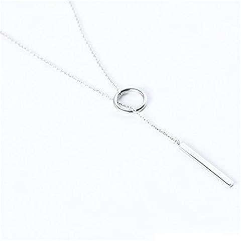 Y Type Open Circle Layering Karma Dangling Charming Dainty Skinny Drop Clavicle Necklace