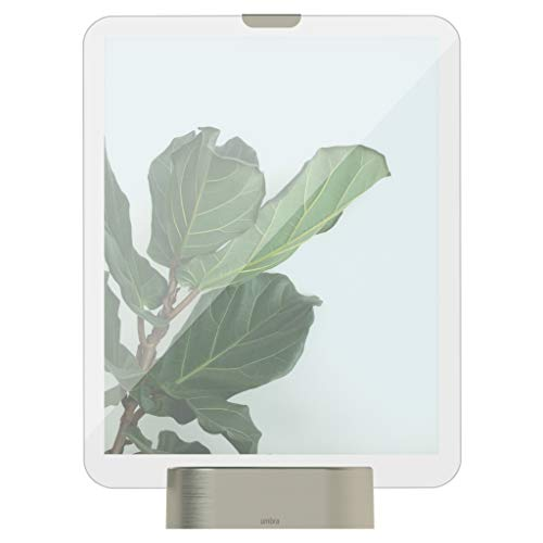Umbra Glo, 8x10 Picture Frame, Illuminated Glass Photo Display, USB Powered with LED Lights, Nickel Base