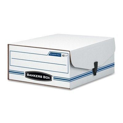 Binder Pak Storage File - (3 Pack Value Bundle) FEL48110 Liberty Binder-Pak Storage Box, Letter, Snap Fastener, White/Blue