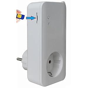 ★★★★★ Presa GSM Smart Home Automation (per scheda SIM mobile), presa programmabile T4-GSM con sensore di temperatura e… 31XwR1T10JL. SS300