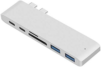 USB C Hub, PD Tipo C Puerto de Carga, Lector de Tarjetas SD TF, 3 Puertos USB: Amazon.es: Hogar