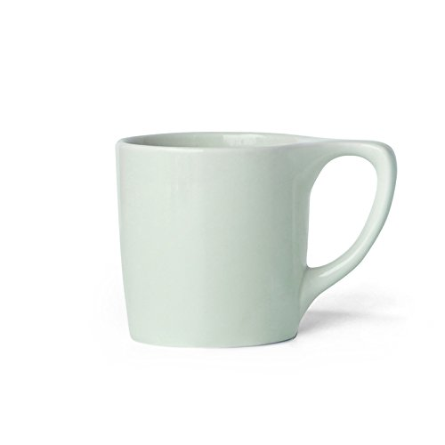notNeutral 01501779R Lino Coffee Mugs, Set of 4, Sage Green