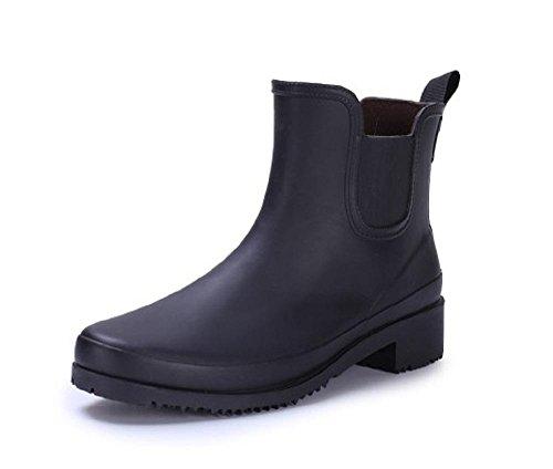 Jardín Zapatos Zapatos Botas 1 Lluvia Resistencia Moda las Simple al Lluvia mujeres De desgaste brown fZxF1E