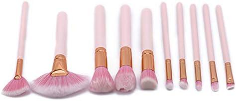 Gotime 可愛い 柔らかい 非皮膚刺激 化粧筆 扇形 メイクアップブラシ セット,ピンク#2