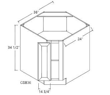 Amazon.com: Glacier Corner Sink Base Cabinet: Kitchen & Dining