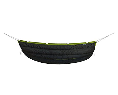 ENO - Eagles Nest Outfitters Blaze UnderQuilt, Ultralight Camping Quilt, Charcoal/Lime