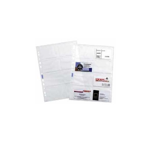 Favorit 100460081 Buste Porta Biglietti da Visita a foratura universale Formato interno 9,4x6,3(x8) Finitura liscia, Confezione da 10 Pz. 36274