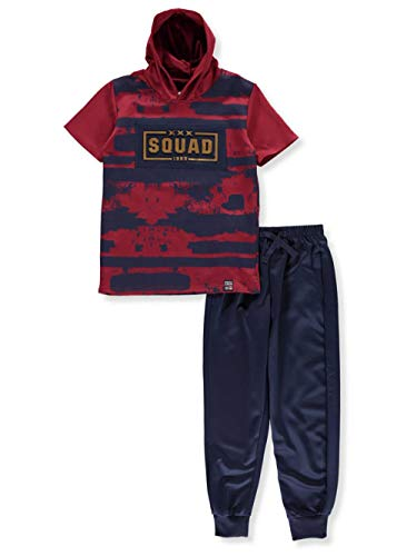 - Phat Farm Big Boys' 2-Piece Pants Set Outfit - Burgundy, 14