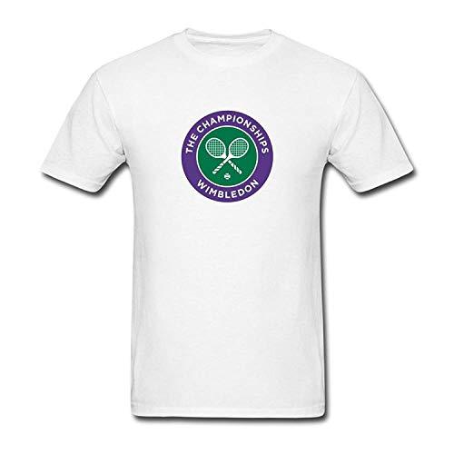 (PerfectMeet Men's 2016 Wimbledon Championships Four Grand Slam Tennis Tournament Logo T-Shirt S ColorName Short Sleeve L)