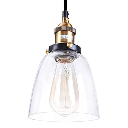 IslandseVintage Edison Industrial Retro Loft Glass Ceiling Lamp Shade Pendant Light (A 14x23cm) ()