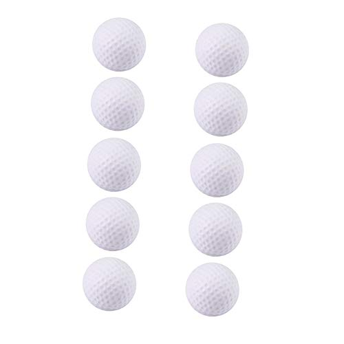 Raybre Art Foam Golf Balls 10pcs White Golf Training Soft Foam Balls Indoor Practice Balls