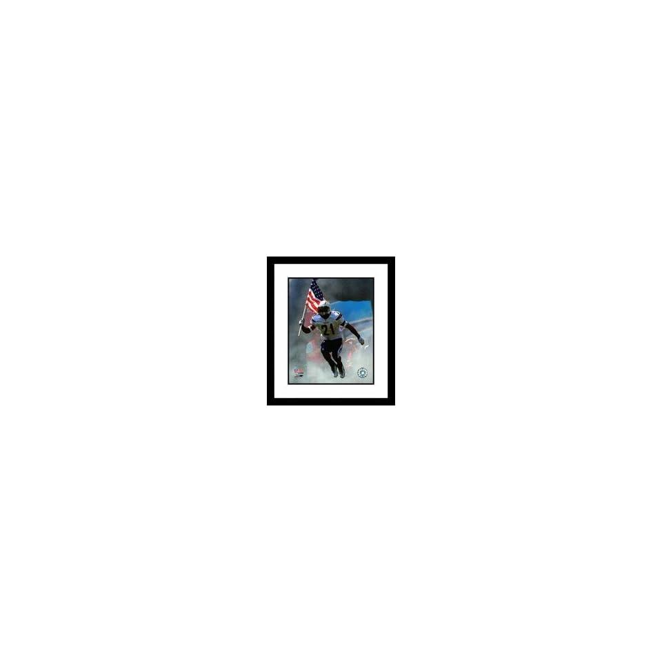 LaDainian Tomlinson San Diego Chargers NFL USA Flag Framed 8 x 10 Photograph