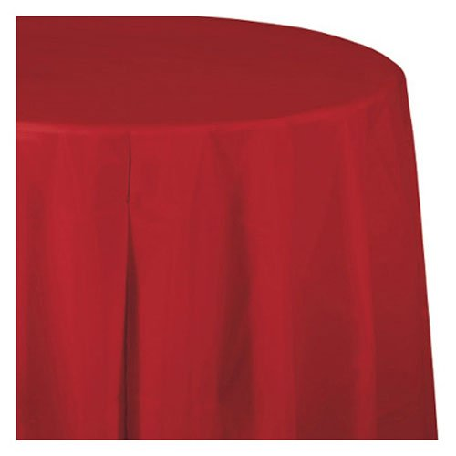 Creative Converting Touch of Color Paper Banquet Table Cover, Classic Red (Paper Wedding Tablecloths)