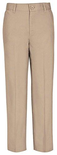 - Classroom School Uniforms Big Boys Husky Flat Front Pant, Khaki, 12H