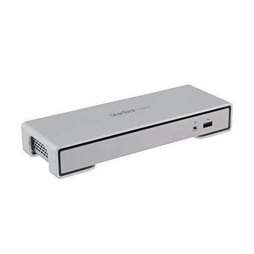 Thunderbolt 2 Docking Station, Compatible with Windows / macOS, Supports Dual Displays and 4K Ultra HD with Thunderbolt 2 and HDMI Ports, eSATA and SPDIF Ports (TB2DOCK4KDHC) by (Startech Pc Speaker)